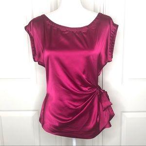 🌺 NY&Co Satin Sleeveless Blouse Waist Tie Size M
